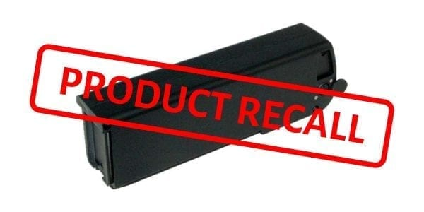 eZee bike battery recall
