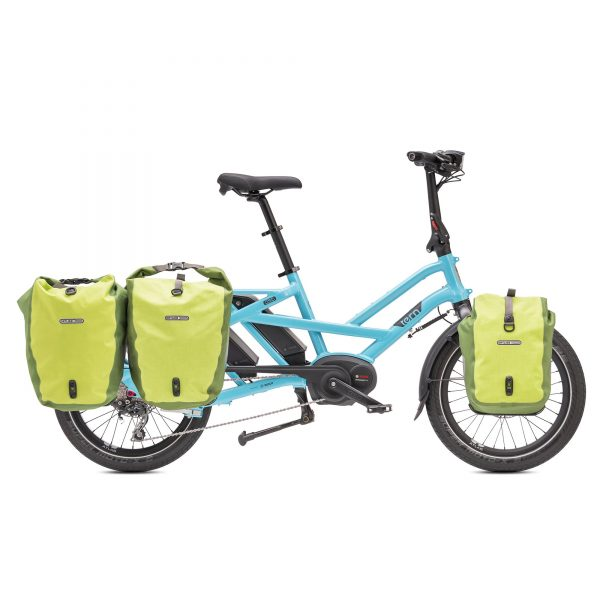 image showing that the Tern GSD can carry 3 pairs of Ortlieb panniers