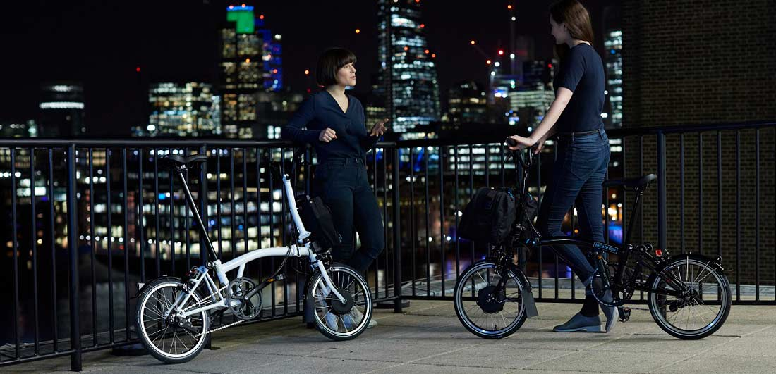 Brompton-ebike-2-cyclists