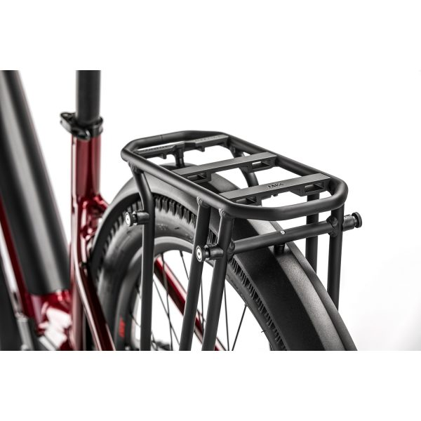 image showing detail of Ortlieb QL3 compatible rear rack on Moustache xroad