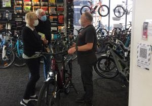 image showing mask wearing in auckland ebike shop